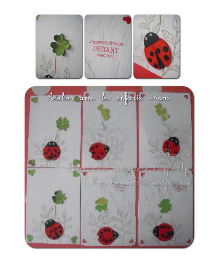 Punch art Coccinelle Ladybug Stampin'Up détails