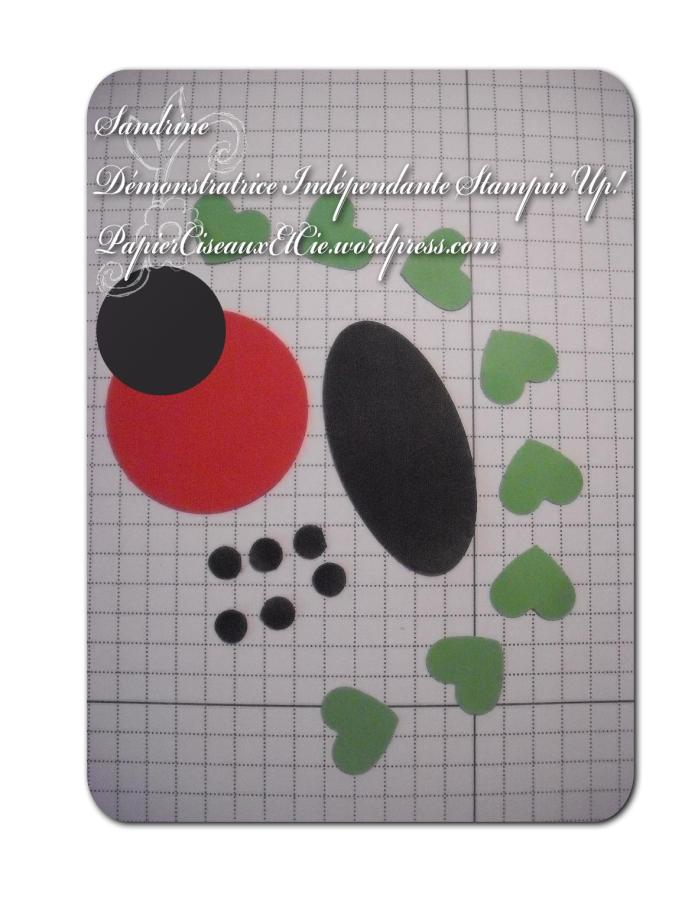 Punch art Coccinelle Ladybug Stampin'Up