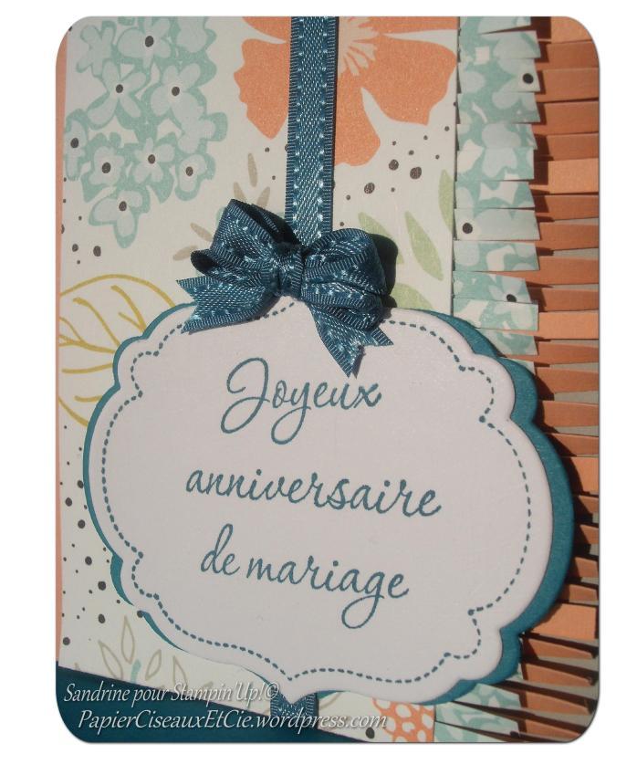 Stampin Up Anniversiare mariage Sale a bration Moments mémorables détails