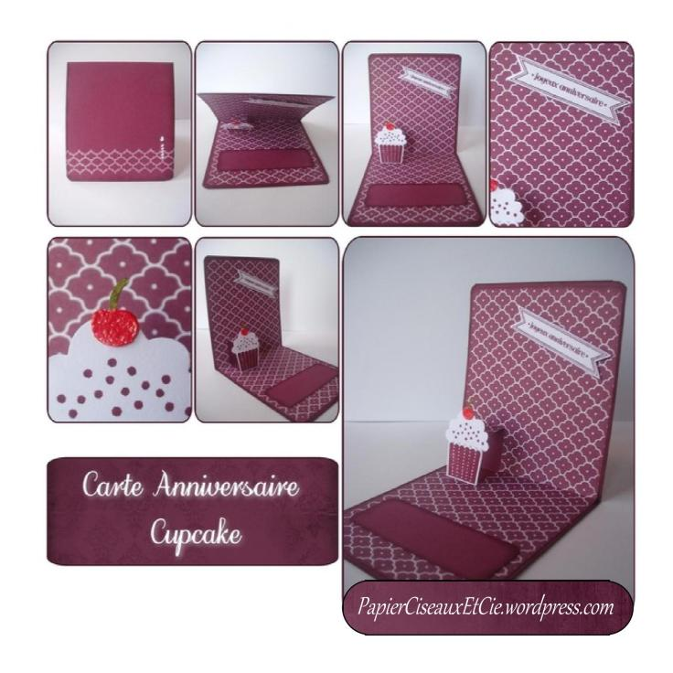 carte anniversaire Cupcake