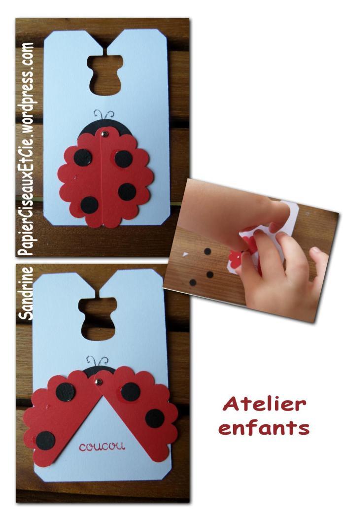 coccinelle stampin up atelier enfant besançon