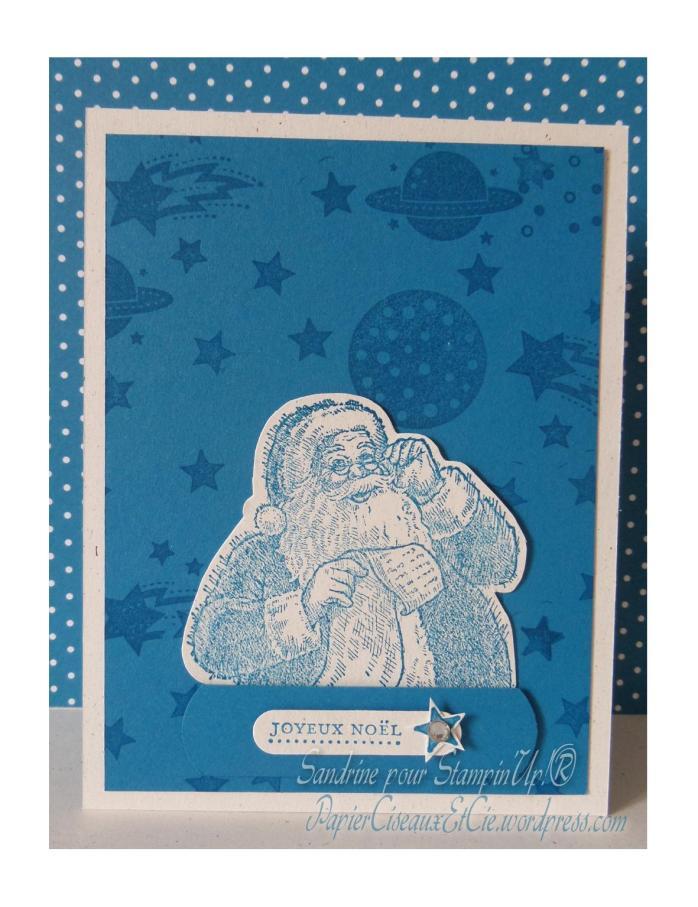 Pére Noel Santa Christmas Stampin up papierciseauxetcie.wordpress.com