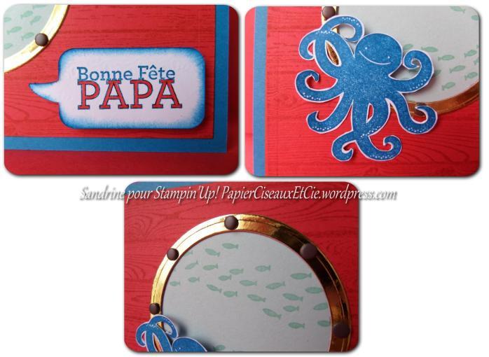 carte fêtes des pères 1 détails stampin up sandrine greusard