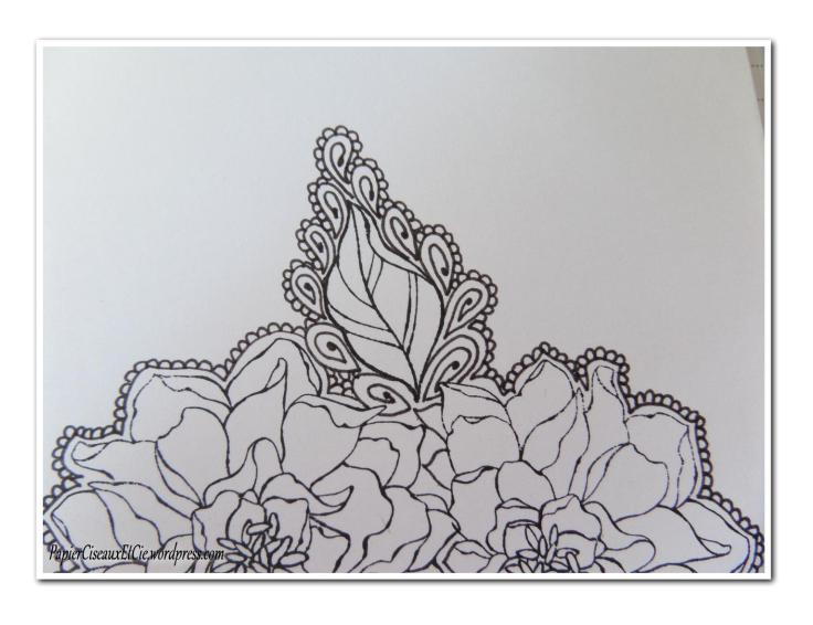 Art journal doodling papierciseauxetcie pas à pas 7