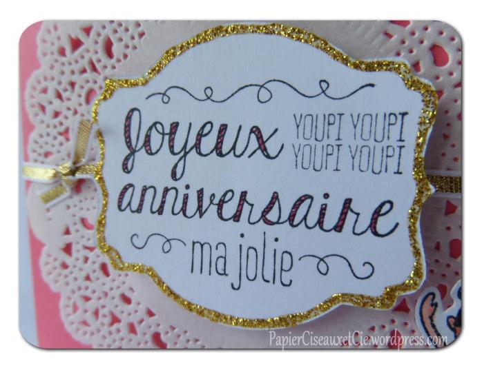 carte anniversaire souhaits sucrés detail 2 papierciseauxetcie