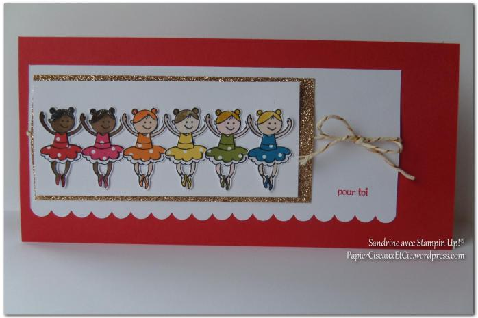 Carte fillettes PapierCiseauxEtCie by Sandrine