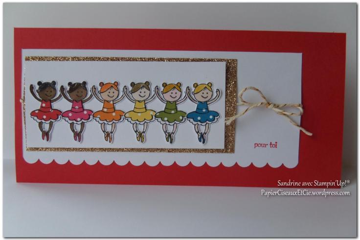 Carte fillettes PapierCiseauxEtCie by Sandrine