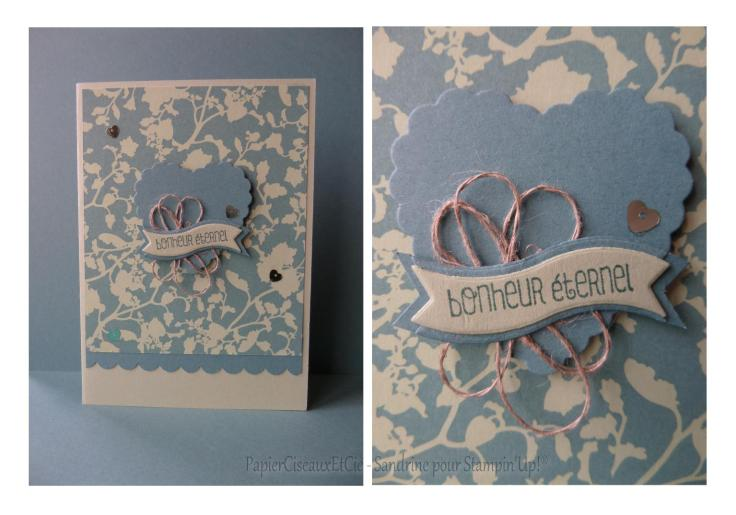 Carte mariage stampin up papierciseauxetcie
