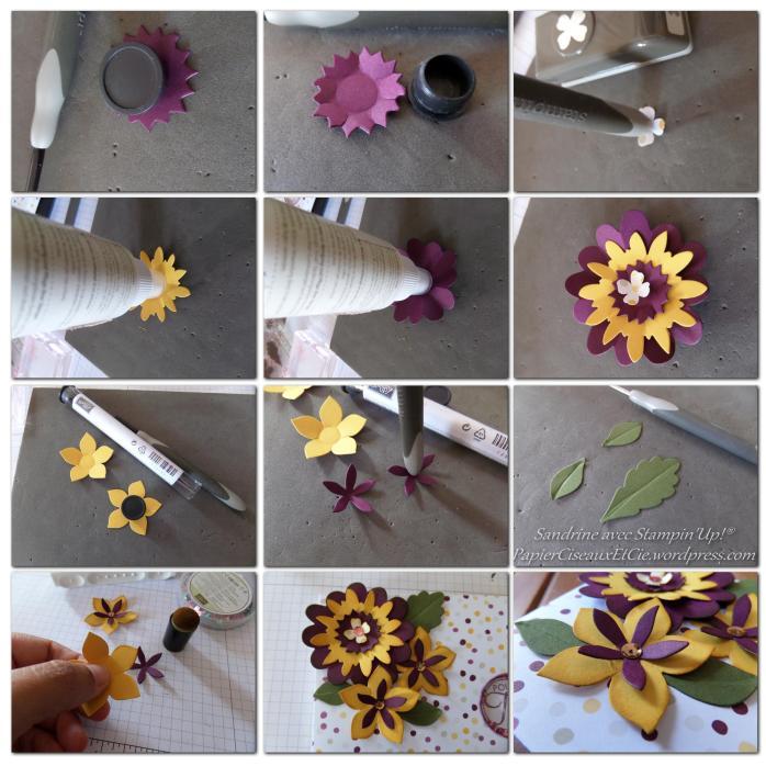 Déco fleurs dessus boîte plioir de gaufrage SU PapierCiseauxEtCie