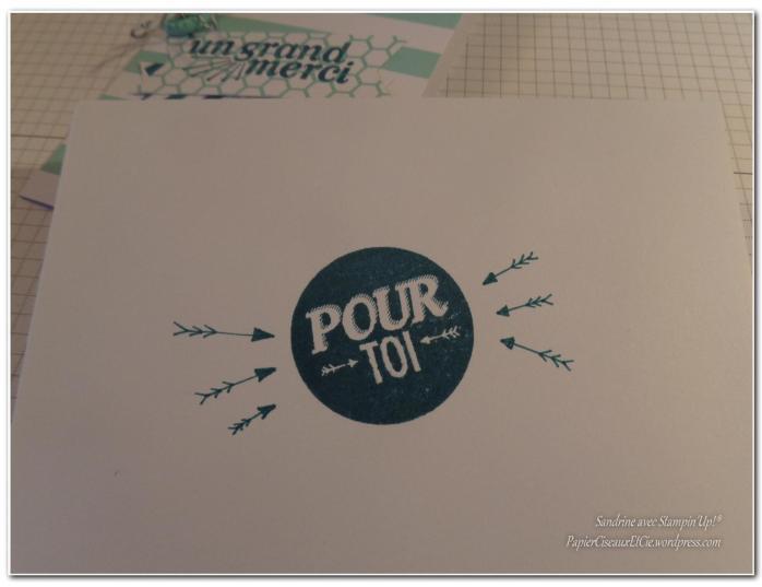 Kit petites pensées pour toi Sandrine PapierCiseauxEtCie avec Stampin Up enveloppe