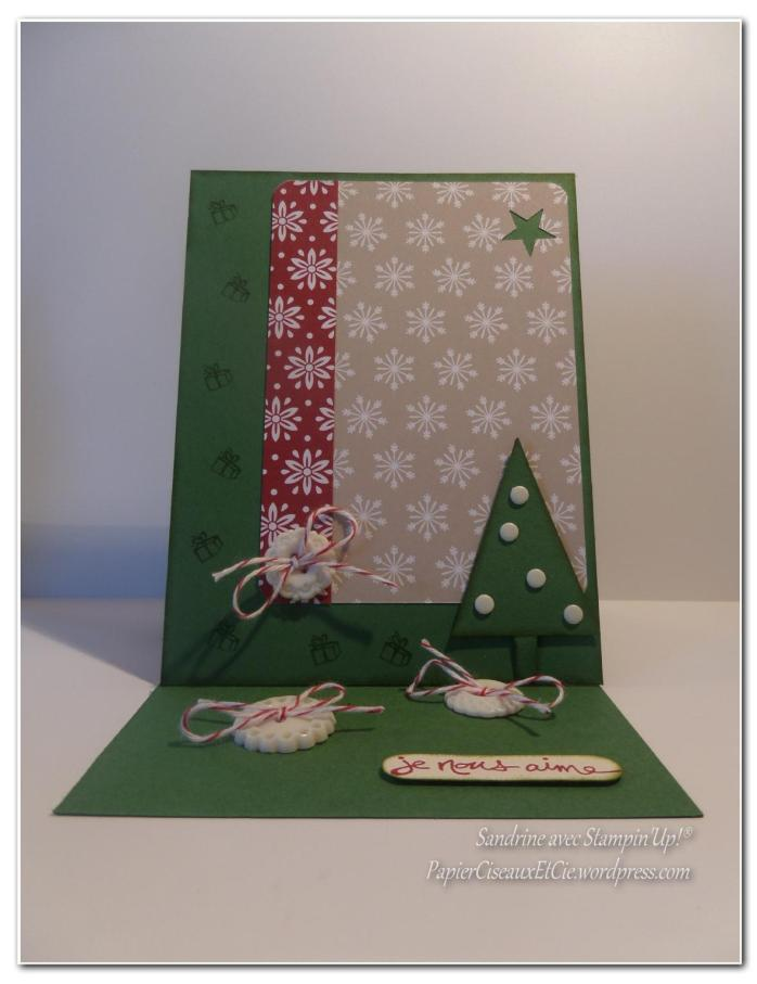 Carte chevalet Sandrine PapierCiseauxEtCie avec stampin up face