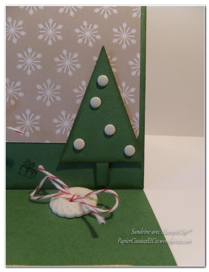 Carte chevalet Sandrine PapierCiseauxEtCie avec stampin up sapin