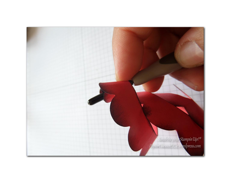 Tutoriel fleur en spirale papier ciseaux et cie com - Fleur commencant par t ...