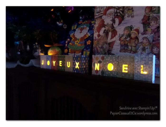 Lampions Joyeux Noel éclairés