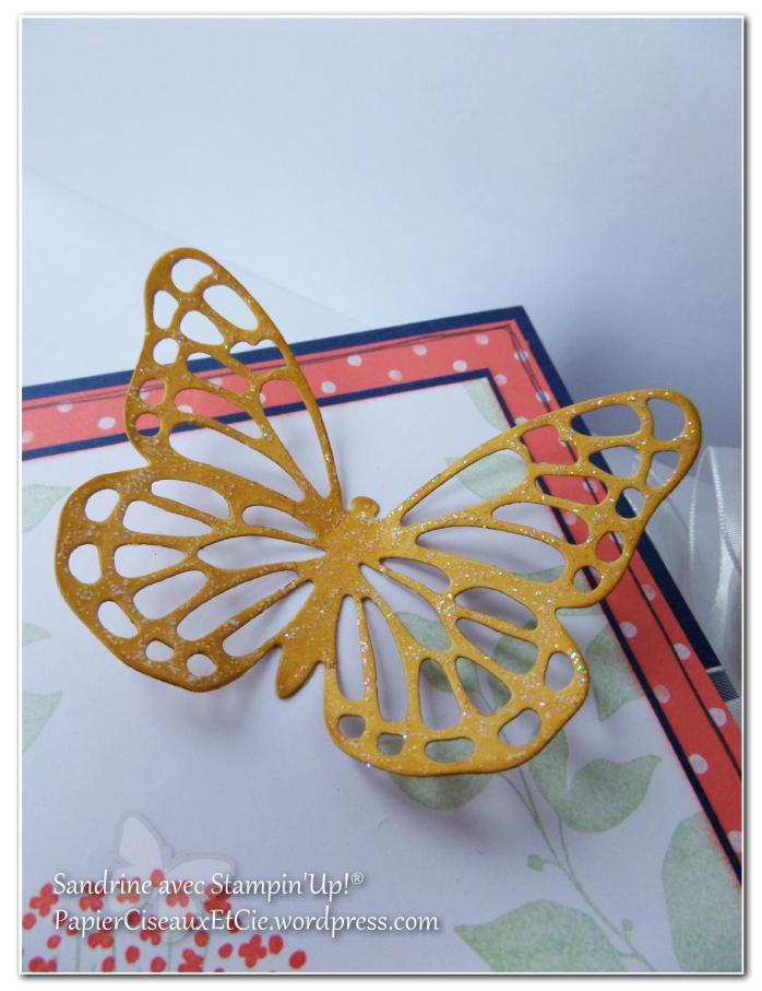 porte cartes 4 papillon