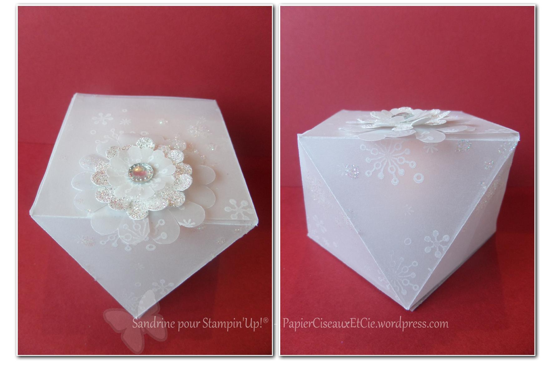 1 2 3 scrappez en blanc bo te diamant avec tuto papier ciseaux et cie com. Black Bedroom Furniture Sets. Home Design Ideas