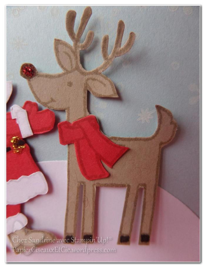 carte noel christmas santa gift stampinup papierciseauxetcie.wordpress.com renne