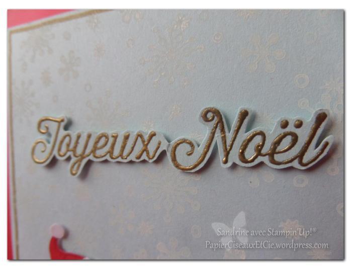 carte noel christmas santa gift stampinup papierciseauxetcie.wordpress.com texte embossé