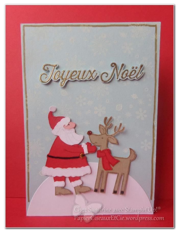 carte noel christmas santa gift stampinup papierciseauxetcie.wordpress.com