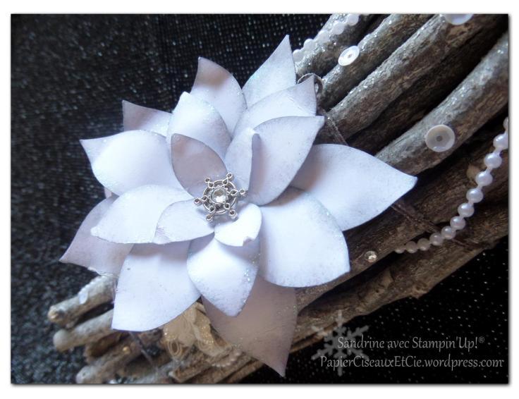 centre de table détail fleur festive stampin up papierciseauxetcie