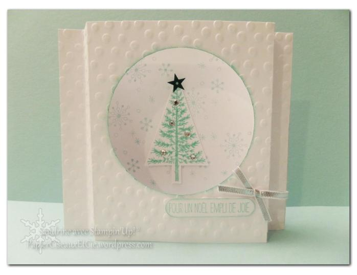 sandrine papierciseauxetcie fetival d'arbre carte de noel christmas card stampiin up