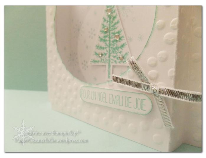 sandrine papierciseauxetcie fetival d'arbre carte de noel christmas card stampin up detail