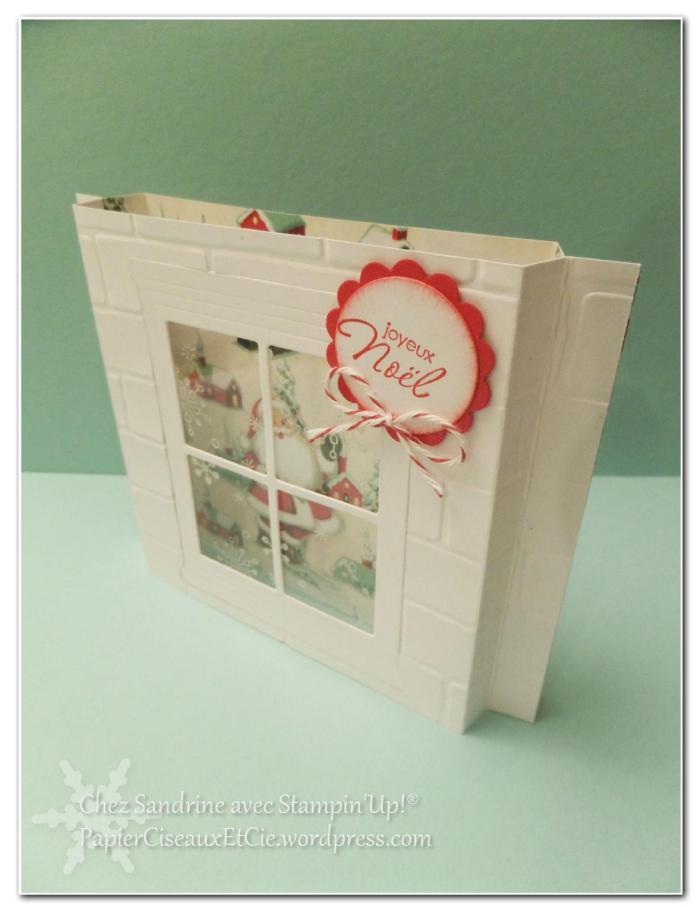 sandrine papierciseauxetcie marché de noel carte de noel christmas card stampin up detail