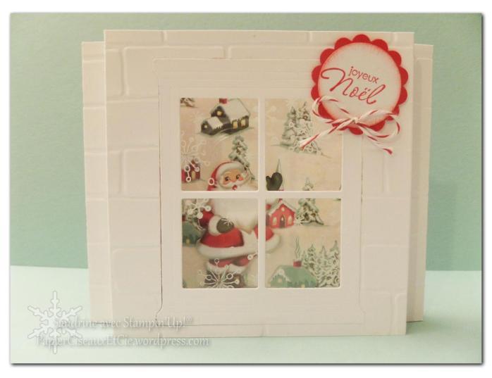 sandrine papierciseauxetcie marché de noel carte de noel christmas card stampin up