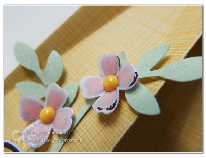 boîte avec tuto en ligne pâques sandrine stampin up papierciseauxetcie fleur