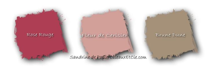 combo de couleurs rose rouge fleur de cerisier brune dune