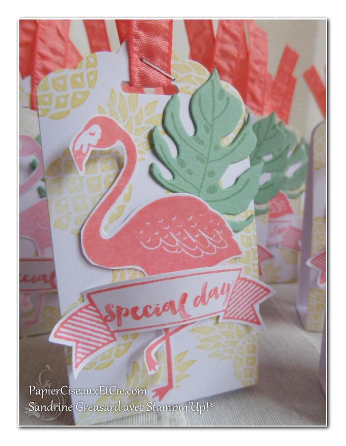 pop of paradise stampin up swap flamant papierciseauxetcie