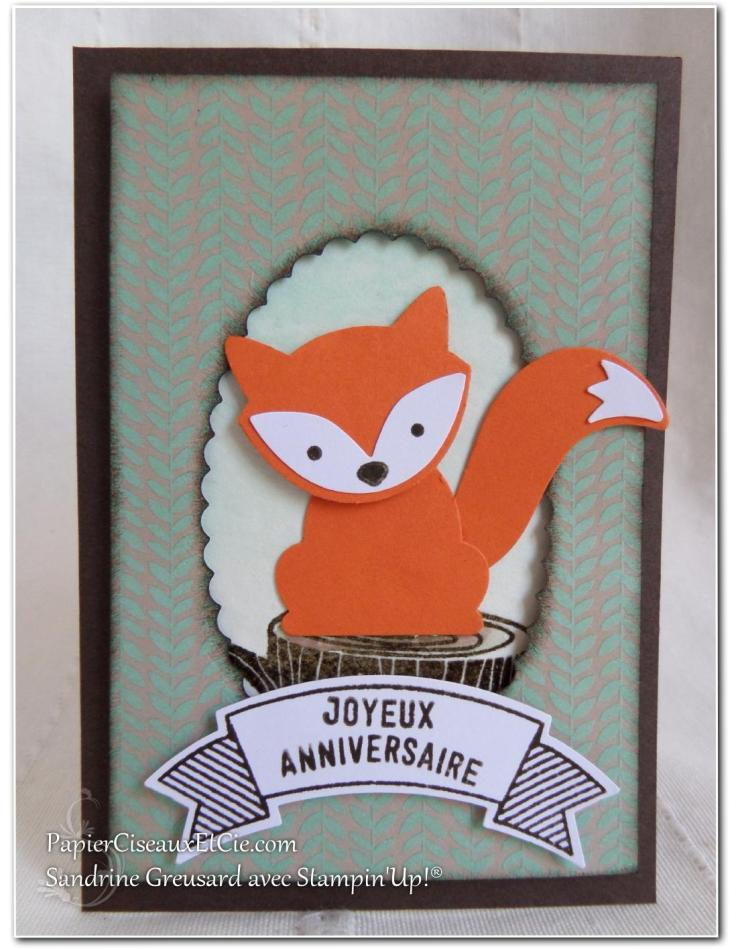 Foxy friend stampin up papierciseauxetcie anniversaire