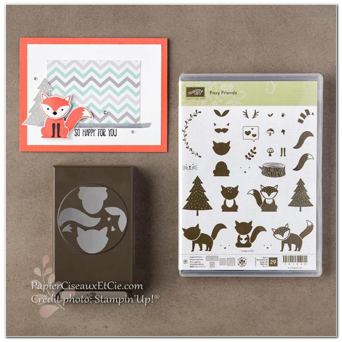 foxy friends stampin up 142326 141549 141470