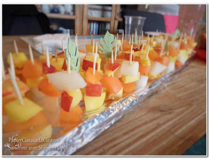 plateau de fruits exotiques stampin up papierciseauxetcie
