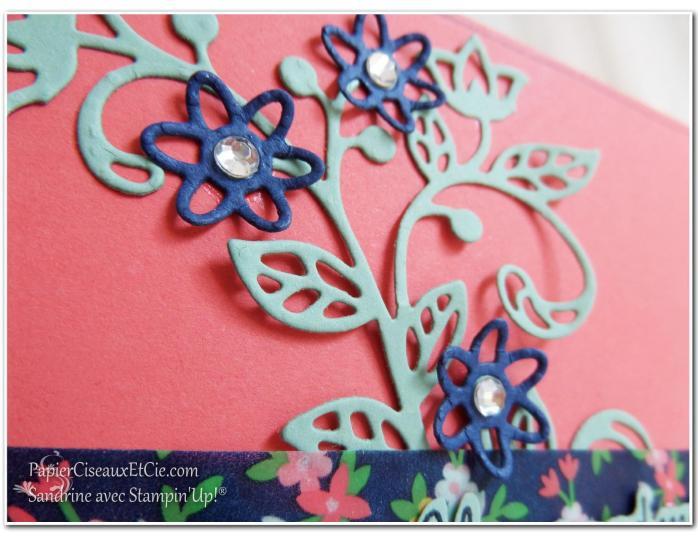 Thinlits en fleur détail fleur stampin up papierciseauxetcie flourish