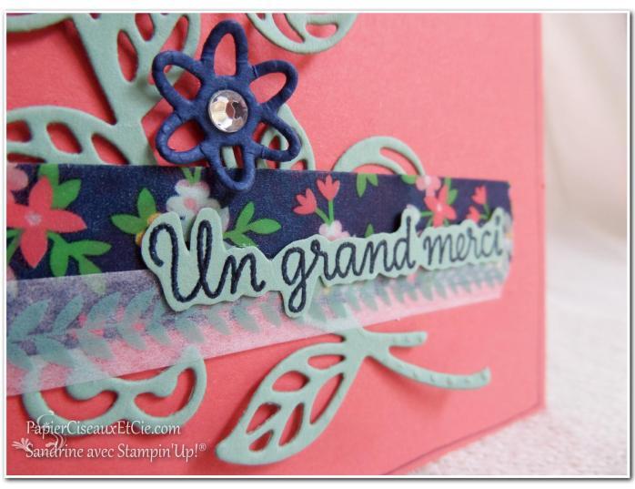 Thinlits en fleur détail stampin up papierciseauxetcie flourish