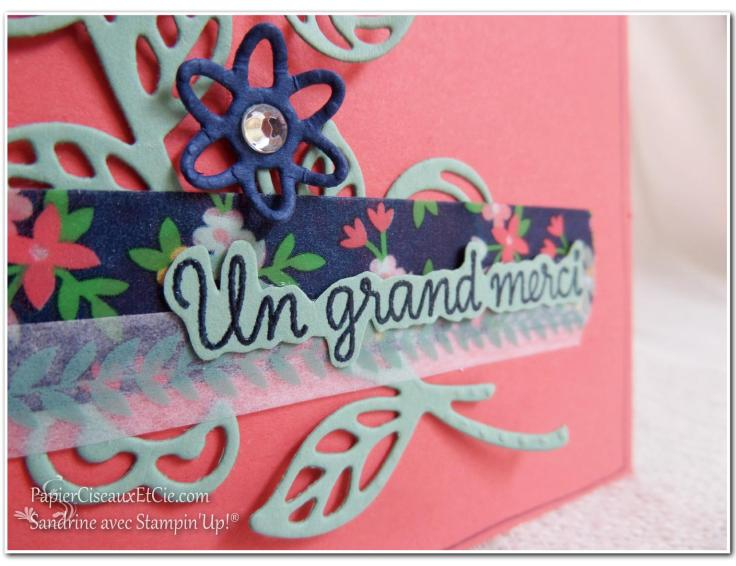 Thinlits en fleur détail stampin up papierciseauxetcie flourish