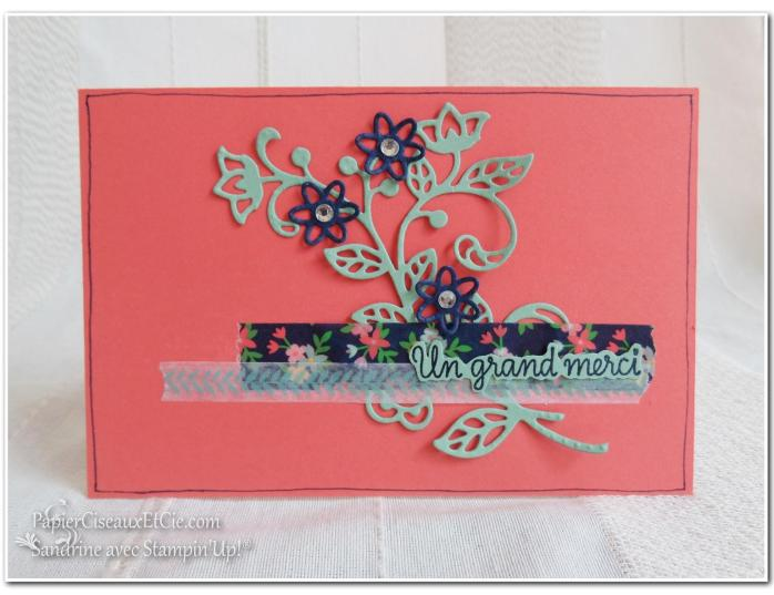 Thinlits en fleur stampin up papierciseauxetcie flourish