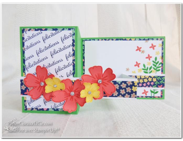 Carte à bande 1 Stampin up Sandrine Greusard Papierciseauxetcie
