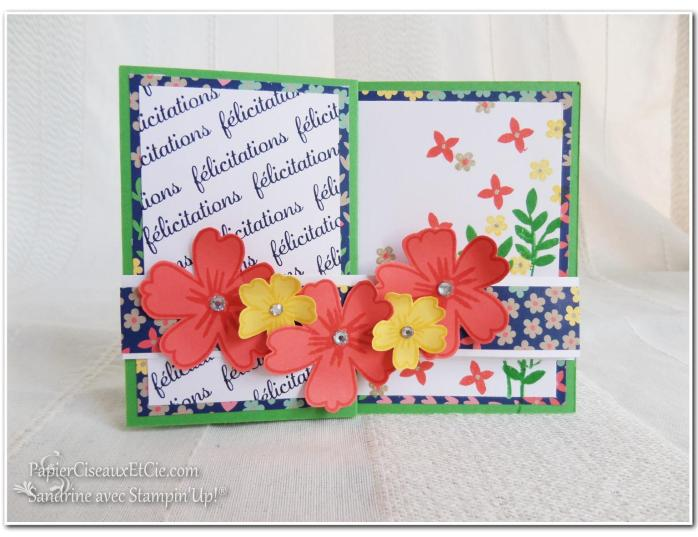 Carte à bande 3 Stampin up Sandrine Greusard Papierciseauxetcie