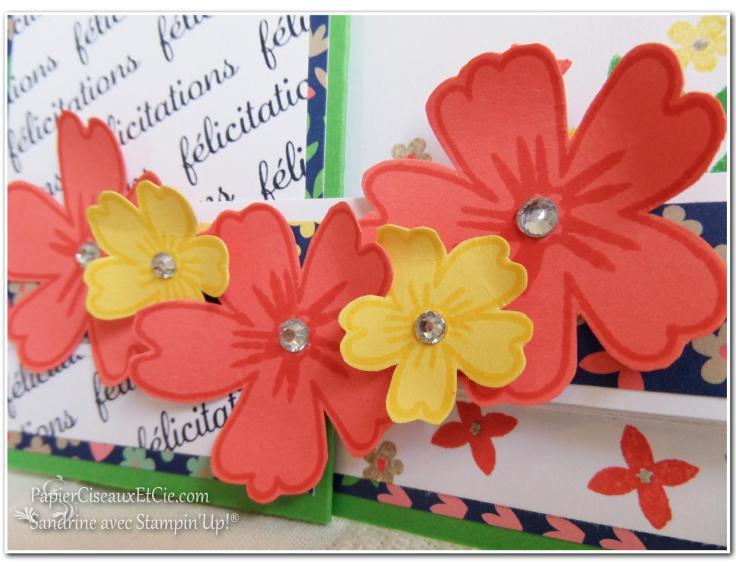 Carte à bande 4 Stampin up Sandrine Greusard Papierciseauxetcie