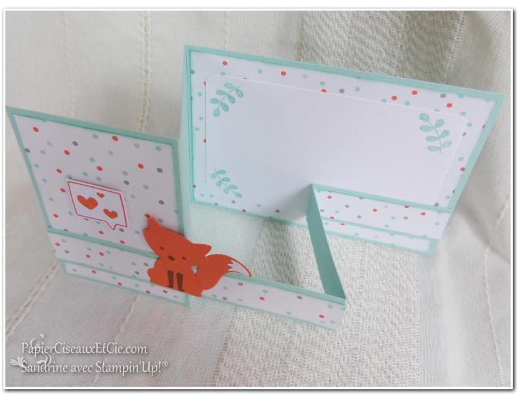 Foxy friend sandrine greusard avec Stampin Up PapierCiseauxEtCie pliage détail