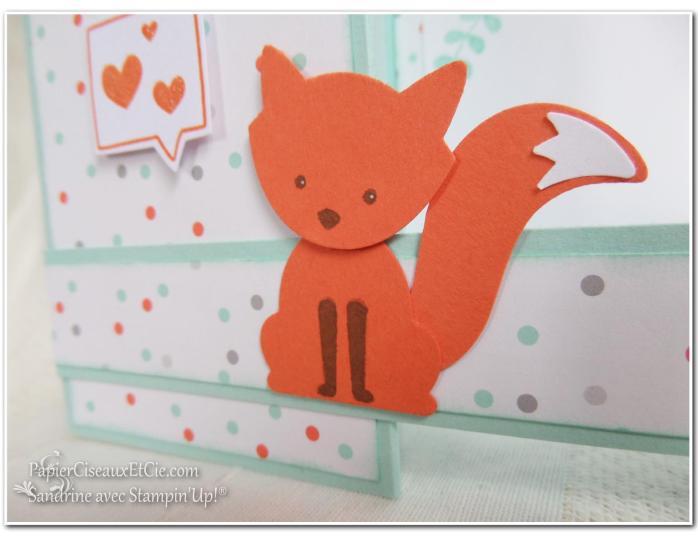 Foxy friend sandrine greusard avec Stampin Up PapierCiseauxEtCie Renard détail