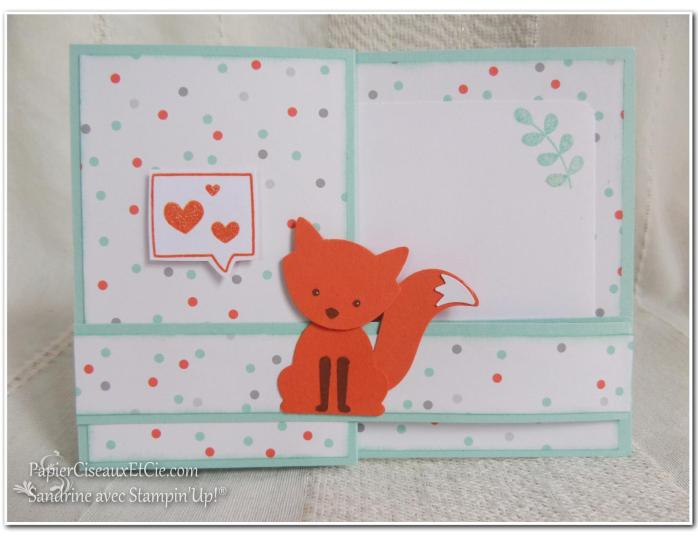 Foxy friend sandrine greusard avec Stampin Up PapierCiseauxEtCie