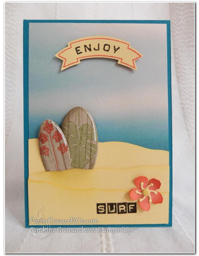 PapierCiseauxEtCie Sandrine avec Stampin'Up Beach Plage Summer Ete