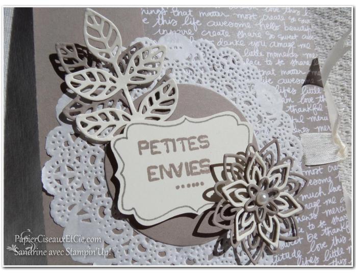 Sandrine avec Stampin Up PapierCiseauxEtCie Carnet Petites envies détails