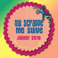 """""""Qui scrappe me suive"""" Juillet 2018: Tutoriel Carte Marque-page!"""