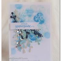 Carte d'anniversaire sous le signe de l'hiver ;)