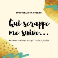 Qui Scrappe Me Suive Juin 2020: Mini-album de poche